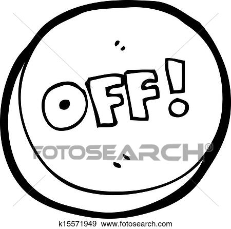 Clip Art Of Cartoon Off Button K15571949