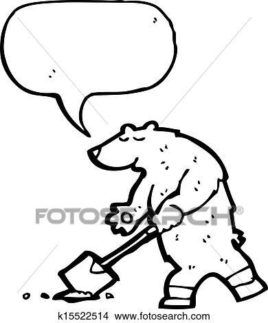 clipart of cartoon polar bear digging hole k15522514 search clip rh fotosearch com digging clip art digging clip art images