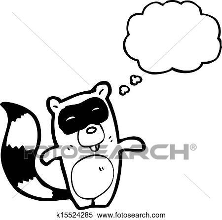 Clipart Of Cartoon Raccoon K15524285