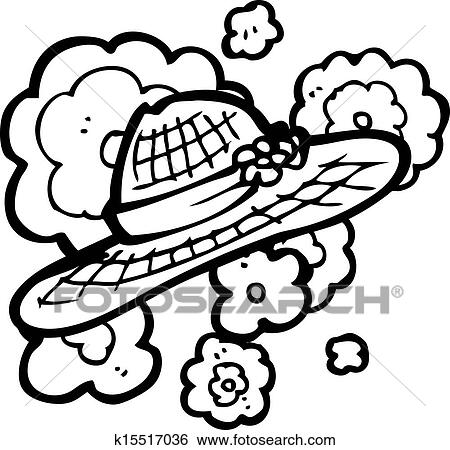 Clip Art Of Cartoon Summer Hat K15517036
