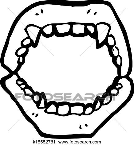 Cartoon Vampire Teeth Clipart K15552781 Fotosearch