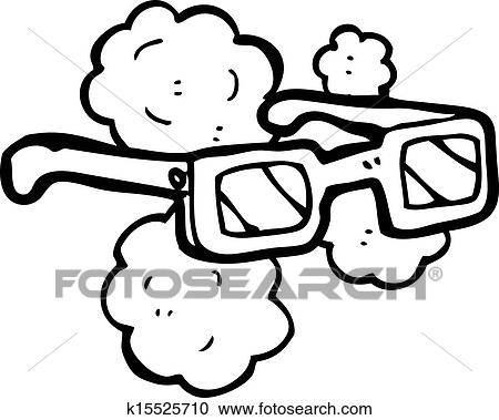 Clipart Of Cartoon X Ray Specs K15525710