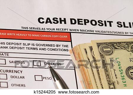 stock image of cash deposit slip k15244205 search stock photos