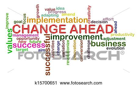 clipart of change ahead word tags k15700651 search clip art