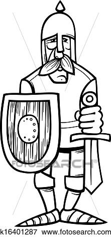 Clipart chevalier dans armure dessin anim - Dessin armure ...
