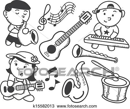 Clipart Of Children Playing Music K15582013