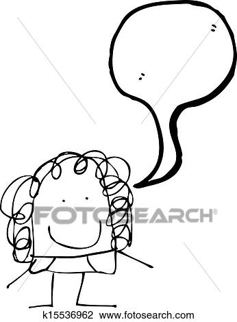Clipart Of Childs Drawing Of A Mom K15536962