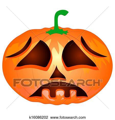 Citrouille Pour Halloween Isolé Sur Les Fond Blanc Dessin
