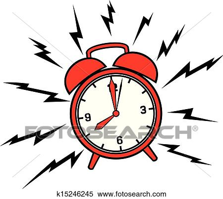 clipart of classic alarm clock k15246245 search clip art rh fotosearch com alarm clock clipart black and white clipart alarm bell