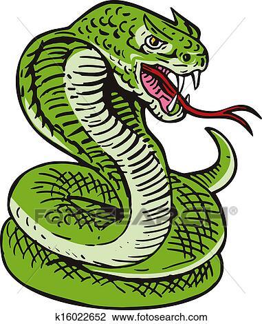 clip art of cobra viper snake k16022652 search clipart rh fotosearch com viper head clipart viper logos clipart