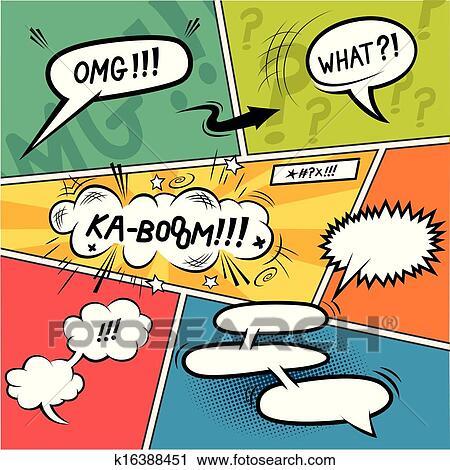 Comic Strip Speech Bubbles Clipart K16388451 Fotosearch