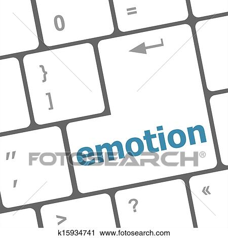 clipart of computer keyboard with emotion key business concept rh fotosearch com computer keyboard clipart free computer keyboard clip art images