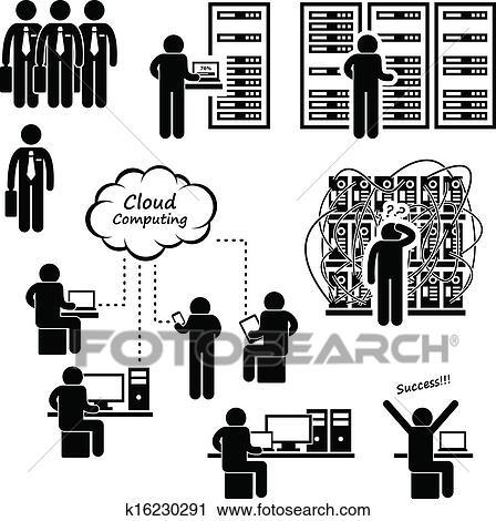 Computer Network Server Data Center Clipart K16230291 Fotosearch