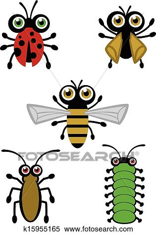 clipart of cute bug vectors k15955165 search clip art rh fotosearch com  cute ladybug clipart