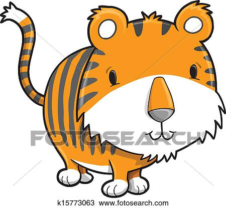 clipart of cute safari tiger cub vector k15773063 search clip art rh fotosearch com tiger cub clipart png cute tiger cub clipart