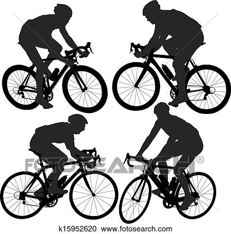Clipart Of Cycling Silhouette K15952620