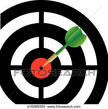 Clipart Of Darts Game K16069393 Search Clip Art Illustration