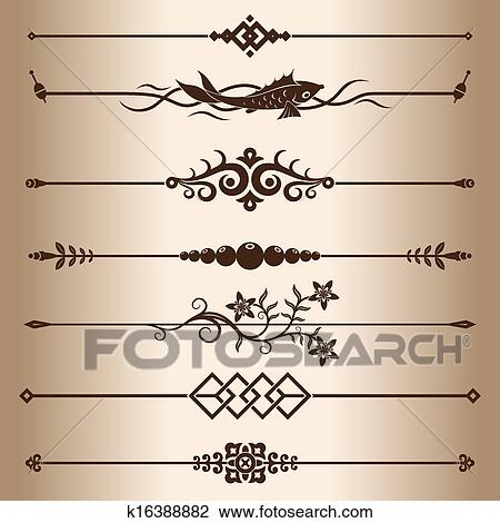 Decorative Lines Clipart K16388882 Fotosearch