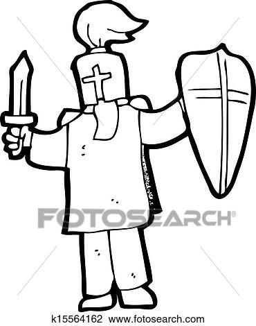 Clipart Dessin Anime Chevalier Noir K15564162 Recherchez Des