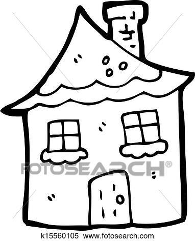 Clipart  Dessin Anim Neigeux Petite Maison K