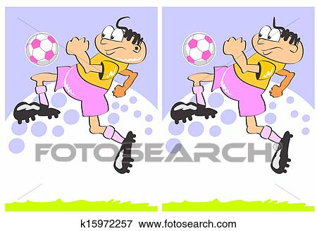 Two boys playing football stock vector. Illustration of children - 55171773