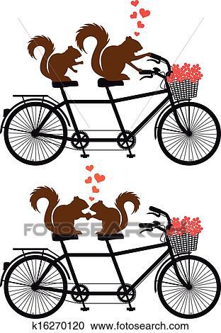 Clipart Eichhornchen Auf Fahrrad Vektor K16270120 Suche Clip
