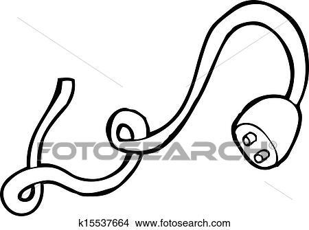 Clipart Of Electric Plug Cartoon K15537664 Search Clip Art