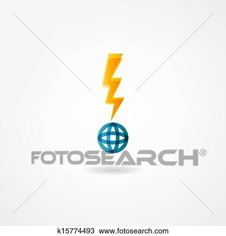 Clipart - elektrizität, symbol k15774493 - Suche Clip Art ...