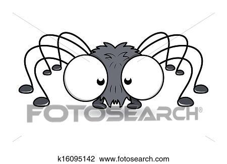 clipart engraçado grande olho aranha vetorial k16095142