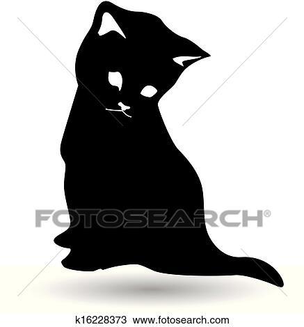 Clipart gatto nero silhouette k16228373 cerca clipart for Gatto clipart