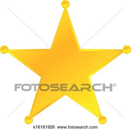 clip art of golden sheriff star badge k16161926 search clipart rh fotosearch com western sheriff badge clipart sheriff star clip art free