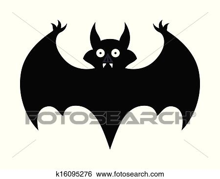 clip art halloween bat silhouette fotosearch search clipart illustration posters drawings
