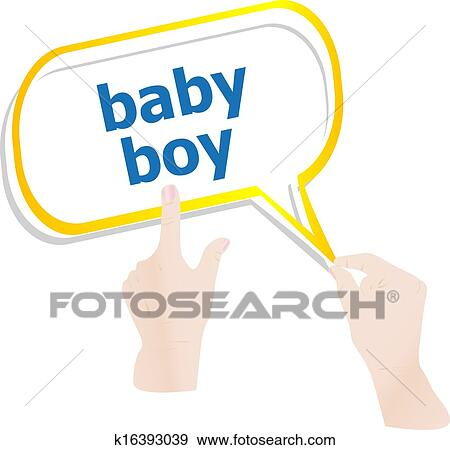 Stock Illustration Of Hands Holding Abstract Cloud With Baby Boy