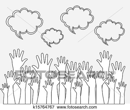 clip art of hands up k15764767 search clipart illustration
