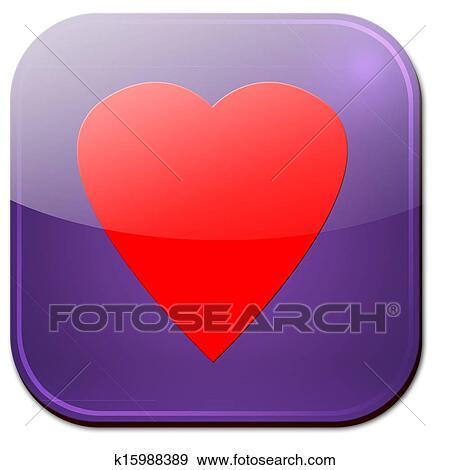 Stock Illustration Of Heart Symbol App K15988389 Search Vector