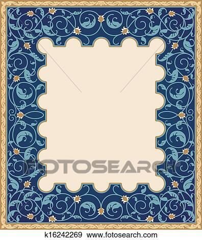 Clip Art of High detailed islamic art frame k16242269 - Search ...