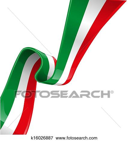 clip art of italian background with flag k16026887 search clipart rh fotosearch com italian american flag clipart italian flag clipart free