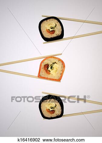 Japonaise, sushi Dessin | k16416902 | Fotosearch