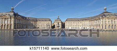 stock photography of bordeaux place de la bourse k15711140 search stock photos pictures wall. Black Bedroom Furniture Sets. Home Design Ideas