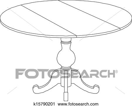round table drawing clipart of round table drawing k15790201 search clip art 4282
