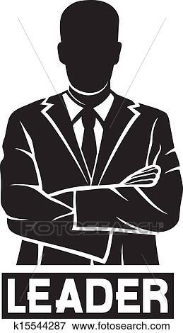 Leader (successful businessman) Clip Art | k15544287 ...