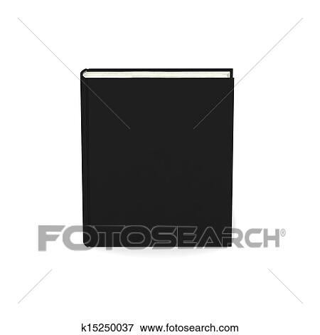 Livre Blanc A Noir Couverture Blanc Arriere Plan Banque D Illustrations