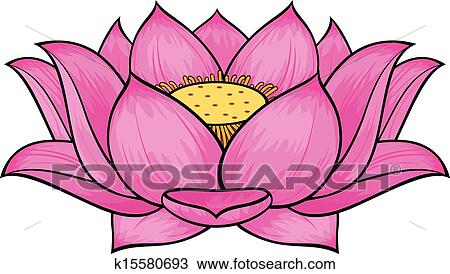 clipart of lotus flower k15580693 search clip art illustration rh fotosearch com lotus flower clip art free lotus flower clip art black and white