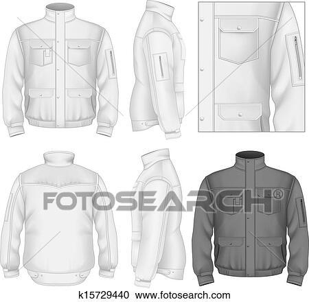 Clipart Of Mens Flight Jacket Design Template K15729440