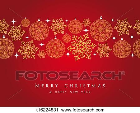 Clipart Merry Christmas Decorations Elements Border Fotosearch Search Clip Art Illustration