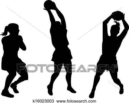 Netball Player Catching Ball Drawing K16023003 Fotosearch