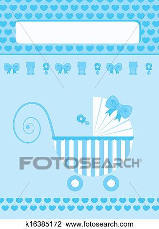 clip art of new born baby boy greeting card k16385172 search