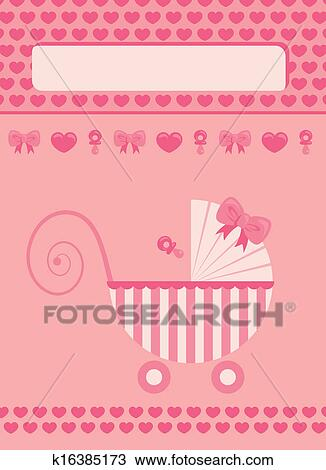 drawing of new born baby girl greeting card k16385173 search
