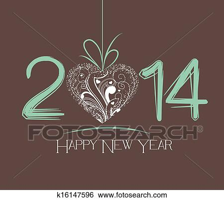 Stock illustration of new year greeting card k16147596 search clip happy new year 2014 m4hsunfo