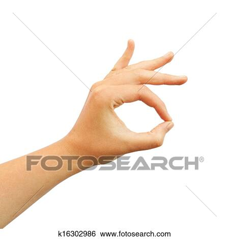Stock Images Of Ok Hand Symbol K16302986 Search Stock Photography
